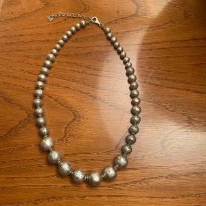 Silpada .925 Silver BeaD Necklace NWOT, 17-19""